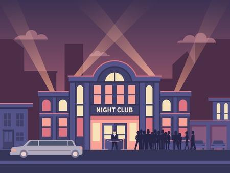 Building nightclub full house.
