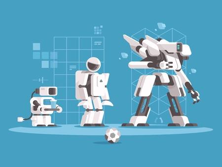 Illustration pour Evolution of robotics - image libre de droit