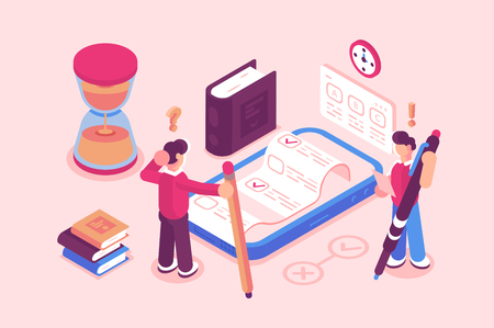 Illustration pour Online testing or exam service - image libre de droit