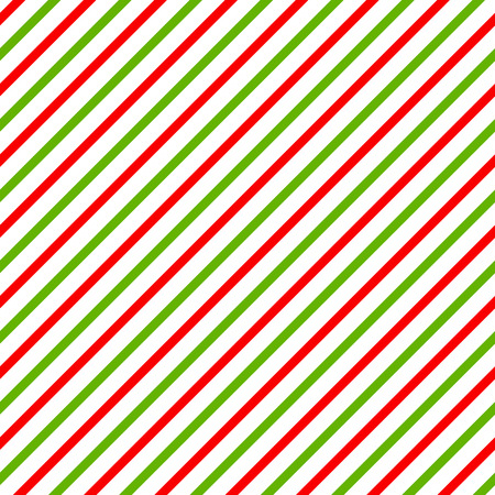 Christmas background with green, red and white diagonal stripes.