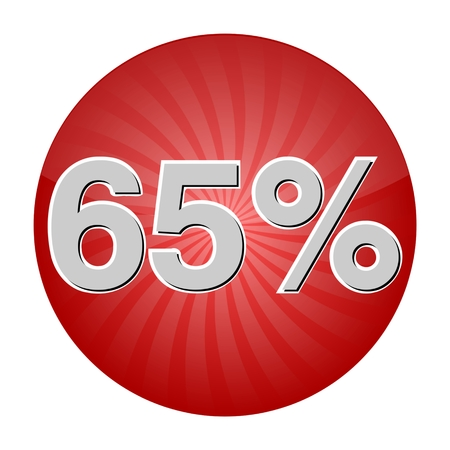65 Percent Discount Button