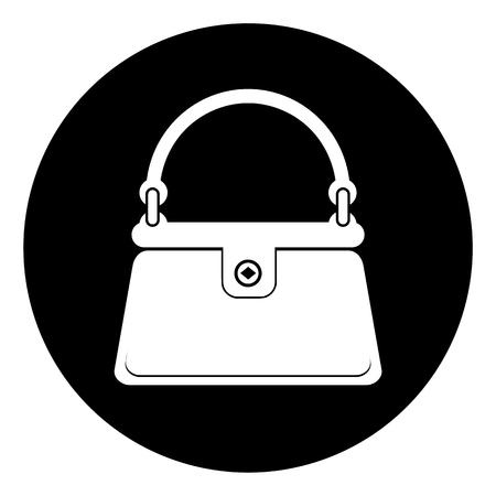 Illustration pour Women's handbag icon - image libre de droit