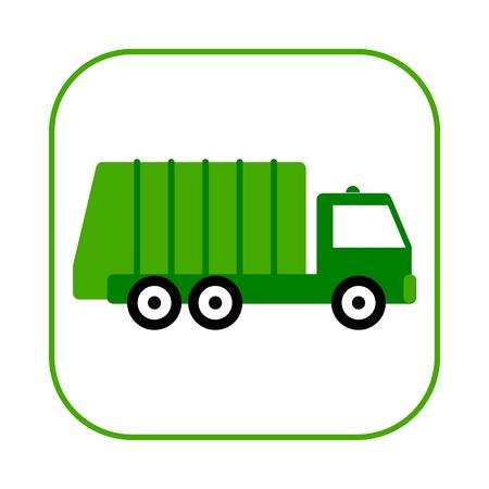 Illustration pour Recycle truck icon - image libre de droit