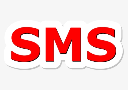 SMS red sign