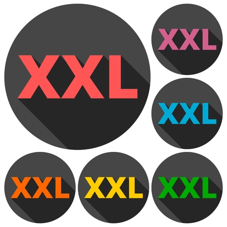 XXL icons set with long shadow
