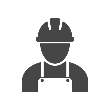 Illustration for Contractor Icon, Workers icon - Royalty Free Image