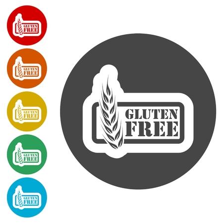Gluten free icon, No gluten / gluten free food label: Royalty-free