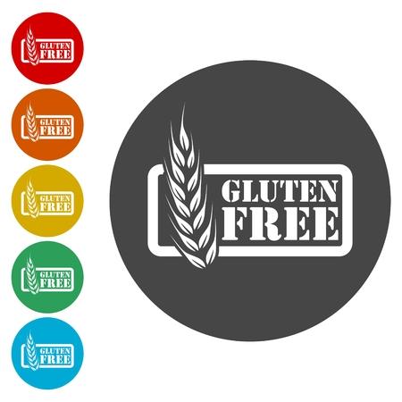 Gluten free icon, No gluten / gluten free food label