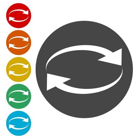 Illustration pour Exchange arrow icon, Reload vector icon - image libre de droit