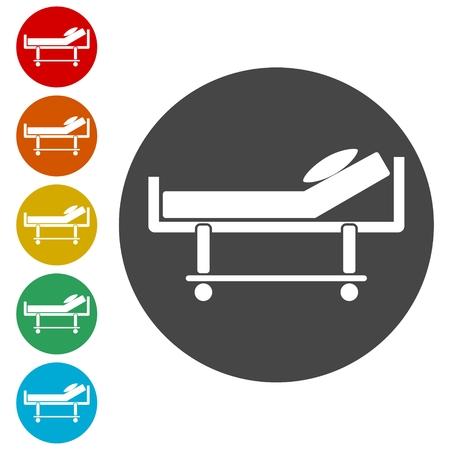 Illustration pour Hospital bed icon - image libre de droit