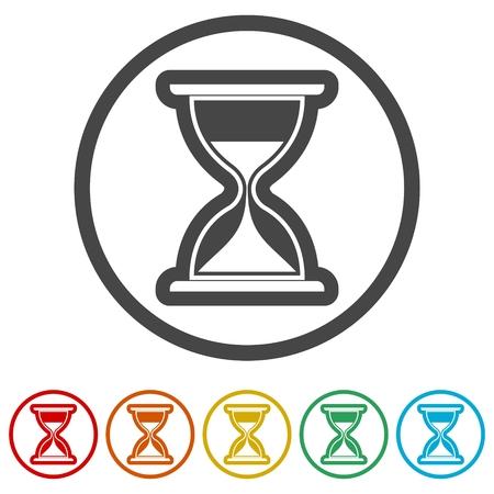 Illustration pour Hourglass icon, Sand clock illustration, 6 Colors Included - image libre de droit
