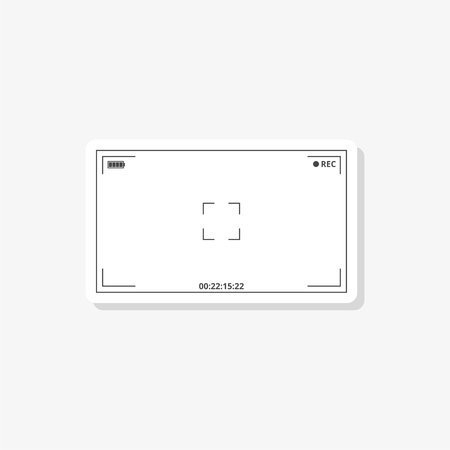 Camera viewfinder sticker, simple vector icon