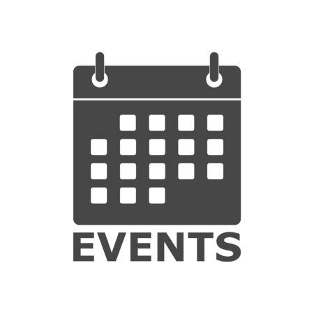 Illustration pour Events icon (calendar icon) - image libre de droit
