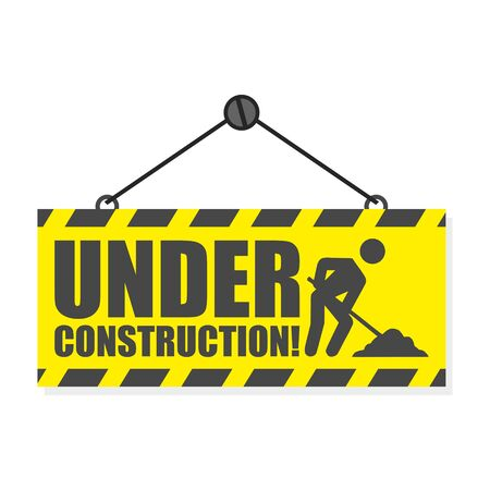 Illustration for Under construction, simple vector sign - Royalty Free Image