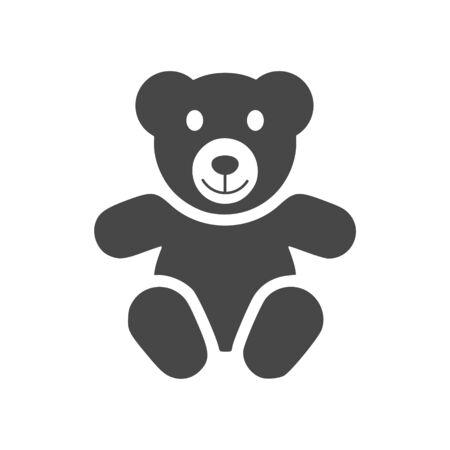 Ilustración de Cute smiling teddy bear icon - Imagen libre de derechos