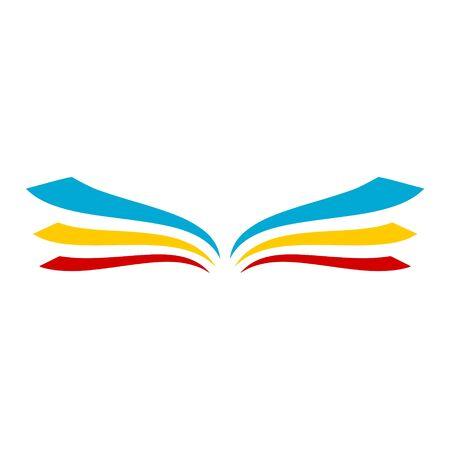 Illustration pour Open book logo, Book icon - image libre de droit