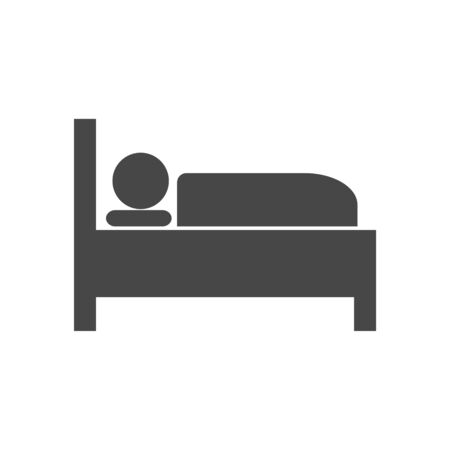 Illustration pour Hospital bed icon, bed icon symbol sleep night hotel motel - image libre de droit