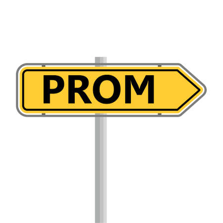 Prom icon, road sign