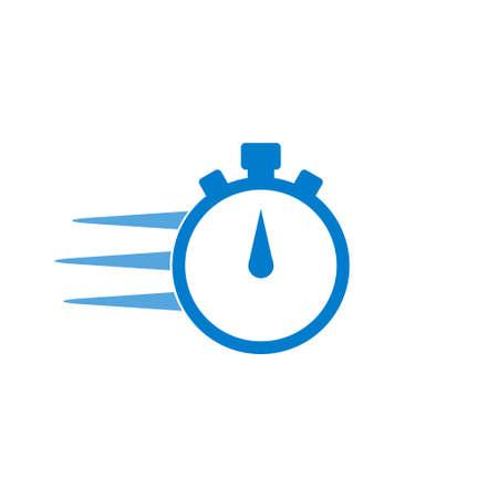 Illustration pour Express delivery icon, Timer concept - image libre de droit