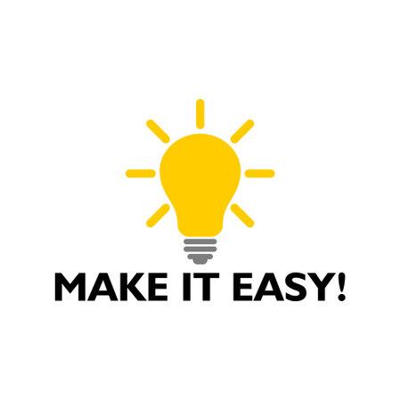 Illustration pour Make It Easy icon, sign, logo. Business concept - image libre de droit