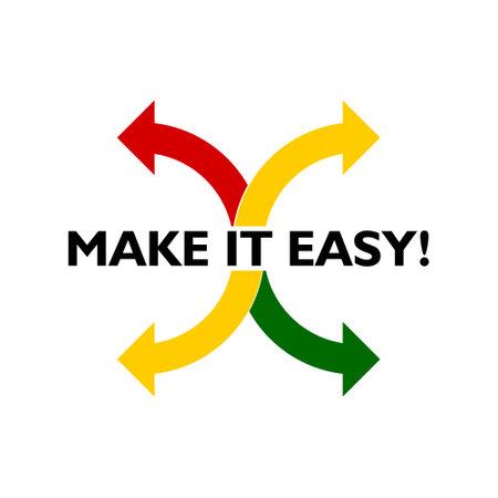 Illustration pour Make It Easy icon. Business concept illustration - image libre de droit