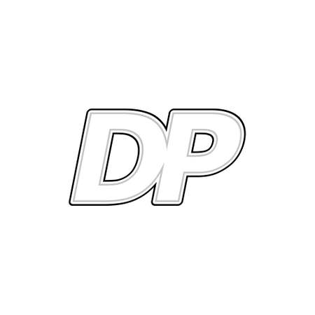 Illustration for DP Initial Letter Logo Icon - Royalty Free Image