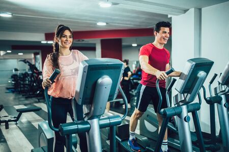 Photo for Young people training in the gym - Royalty Free Image