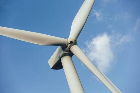 Photo pour Windmills for electric power - Energy Production with clean and Renewable Energy  - image libre de droit