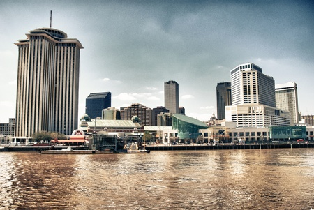 New Orleans Buildings on the Mississippi River Louisiana