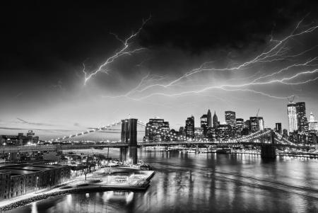 Electric NYC Skyline