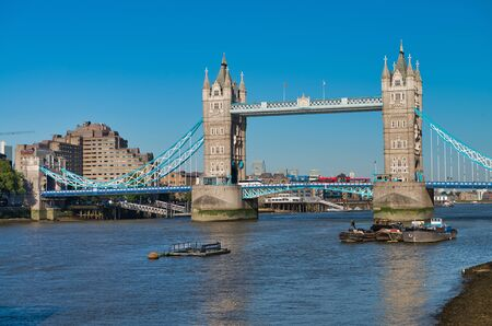 Photo for Powerful structure of Tower Bridge in London. - Royalty Free Image