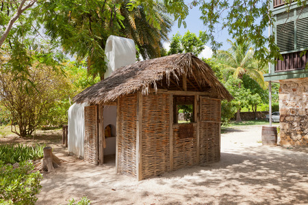 GRAND CAYMAN - JUNE 28, 2015: Traditional kitchen of Pedro St. James Castle on the Cayman Islands (British Overseas Territory). Reconstruction of original 1780 house of plantation owner William Eden