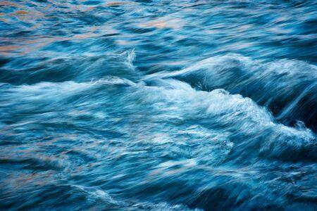 Photo pour abstract nature background blue tint river - image libre de droit