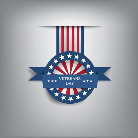 Veterans day badge illustration for posters, flyers, decoration etc