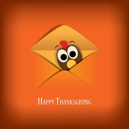 Thanksgiving card vector illustration design with traditional turkey and space for text. Eps10 vector illustration.のイラスト素材