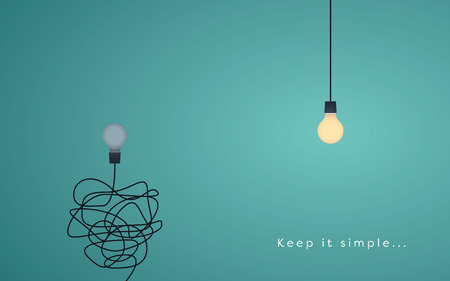 Illustration for Keep it simple business concept for marketing, creativity, project management. - Royalty Free Image