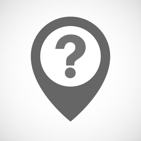 Illustration pour Illustration of an isolated map marker with a question sign - image libre de droit