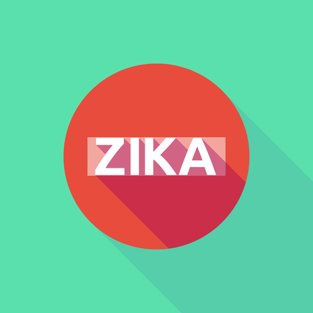 Vector illustration of the word Zika   in a forbidden pass signal