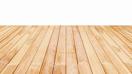 Photo pour Wood floor textured on white background. - image libre de droit