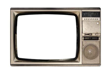 Foto de Old television isolated on white background. - Imagen libre de derechos
