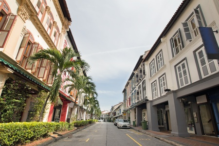 Singapore Preserved Historic Peranakan Row Houses