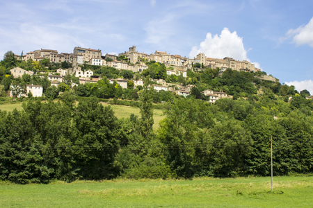 Views of Cordes-sur-Ciel, a beautiful town in southern France