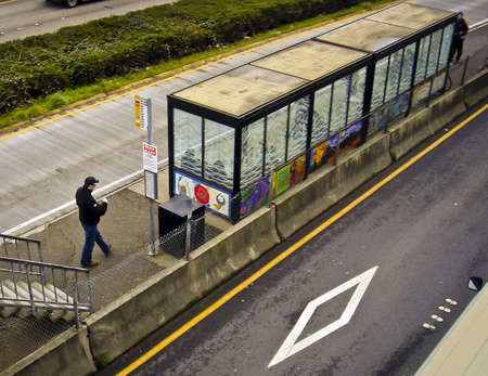 Metro Transit Stop.