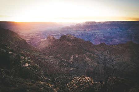 Sunset at Grand Canyon Arizona USA America