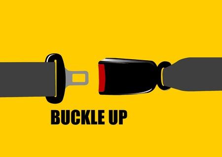 A Vector illustration of seat belt buckle