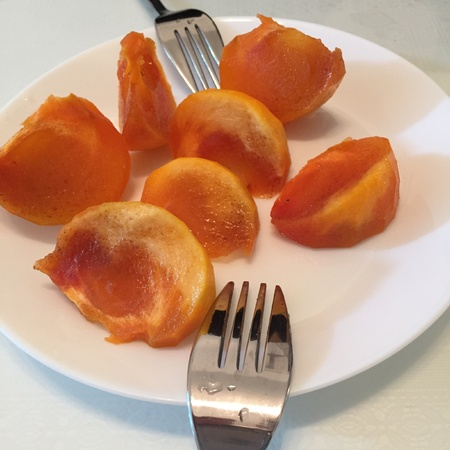 Persimmons is such a delicate fruit. Best served cold. So sweet.