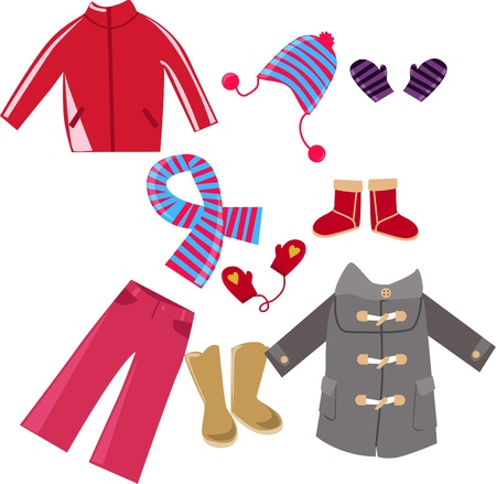 Illustration of very cute child clothes