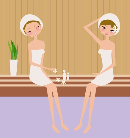 Illustration for spa women  - Royalty Free Image