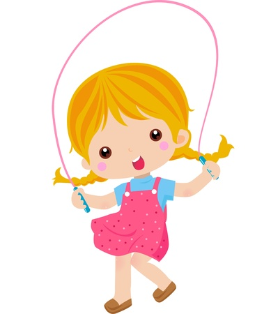 girl with a skipping rope