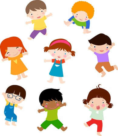 Illustration pour children position  - image libre de droit